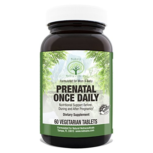 Prenatal Vitamin by Natural Nutra – Gluten Free Vegetarian Pregnancy Nutrition Multivitamin, 60 Tablets