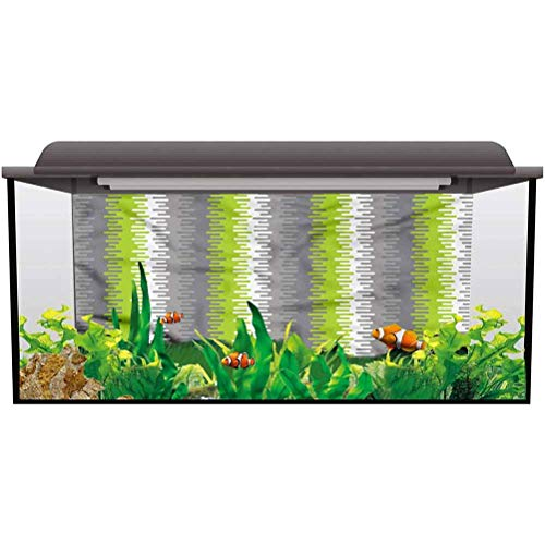bybyhome Under Sea Fish Aquarium Abstract,Wavy Vertical Stripes One Side Fish Tank L36 X H16 Inch