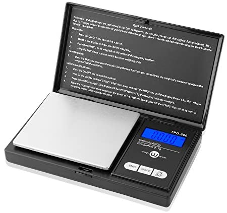 Weigh Gram Scale Digital Pocket Scale,100g by 0.01g,Digital Grams Scale, Food Scale, Jewelry Scale Black, Kitchen Scale 100g(TOP-100)