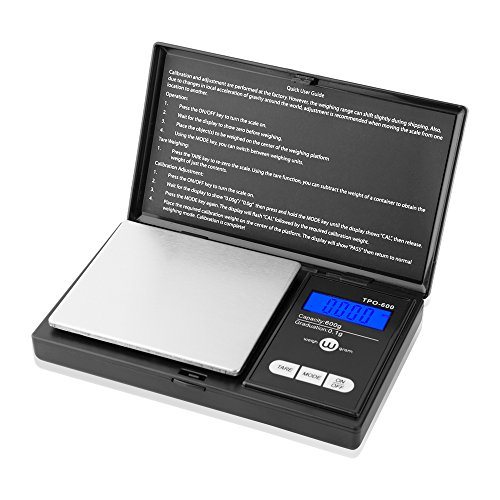 Weigh Gram Scale 600g x 0.1g,Pocket Scale, Digital Jewelry Scale, Food Scale, Kitchen Scale, Digital Pocket Scale,TOP-600 (Black) … (0.1g Pocket)