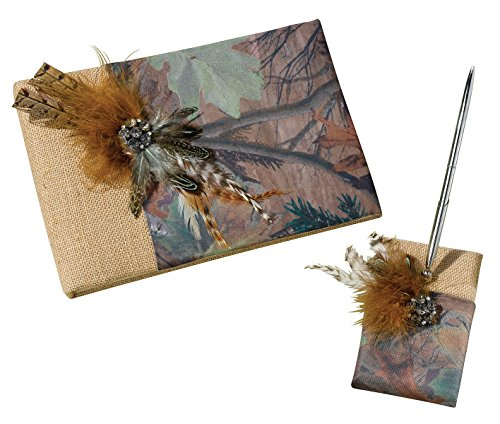 Lillian Rose Rustic Camouflage Wedding Guest Book Pen Set