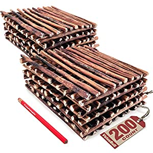 ValueBull Bully Sticks for Dogs, Medium 12 Inch, 200 Count – All Natural Dog Treats, 100% Beef Pizzles, Single Ingredient Rawhide Alternative