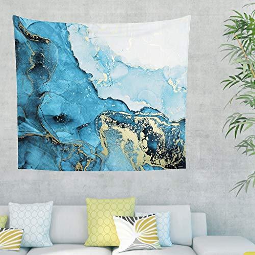 DAMKELLY Store Tapisserie murale Magic Marbling - Impression - Couvre-lit de plage pour décoration intérieure - Blanc - 150 x 130 cm