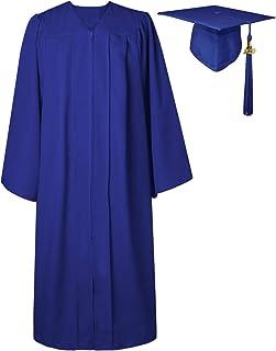 Graduación Toga y Birrete Adulto 2020 Universidad Disfraz Traje Unisex Mujer Hombre 12 Colores