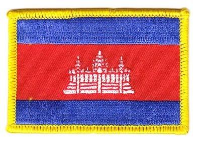 Flaggen Aufnäher Patch Kambodscha Fahne Flagge NEU
