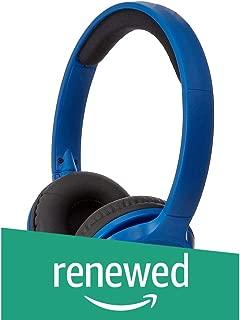 (Renewed) AmazonBasics HP01-V2 On-Ear Headphones (Blue)