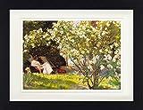 1art1 Peter Severen Kroyer - Der Rosengarten, 1893 Gerahmtes Bild Mit Edlem Passepartout | Wand-Bilder | Kunstdruck Poster Im Bilderrahmen 40 x 30 cm