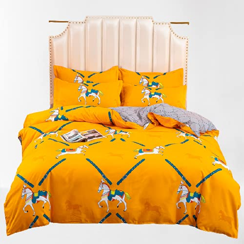 CCBAO Ropa De Cama Textiles para El Hogar Funda Nórdica Estampada De Algodón Aloe Suave Transpirable Y Duradera Adecuada para Todas Las Estaciones 150x200cm