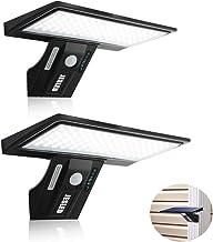 JESLED Solar Flood Lights Outdoor Motion Sensor, 90 LED Solar Powered Exterior Wall Security Light Waterproof for Porch Ya...