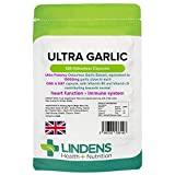 Lindens Cardio Knoblauch 15.000 mg 120 Geruchlose Kapseln 10, 500mcg Allicin pro Kapsel