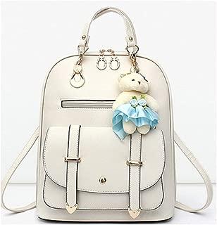 Women's Beaded Shoulder Bag PU Leather Backpacks