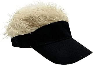 Novelty Team Wear Riding Hats Unisex Cycling Bike Bicycle Cap Fake Hair Wig Visor