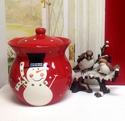 Christmas Snowman, Hand Painted Ceramic CollectionGet Them All (Cookie Jar)