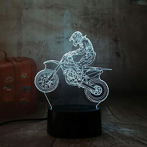 3D Nacht Licht 3D Extremiteit Motorfiets Led Cool Boy Gift Nacht Licht Led Bureau Tafellamp RGB Gradient Kind Verjaardag Nieuwjaar Geschenken