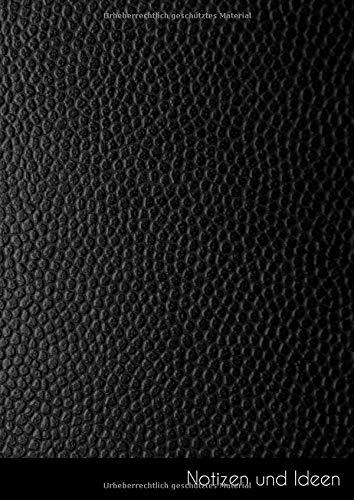 Notizen und Ideen: Großes Fake schwarzes Leder Notizbuch | Skizzenbuch | Zeichenbuch | Malbuch DIN A4, blanko. Nachhaltig & klimaneutral.