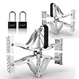 MAHLER GATES 2021 New X Chock Wheel Stabilizer, RV Tire Stabilizers Locking Chocks for Campers Travel Trailers Trucks with Integrated Wrench and Anti-Theft Code Lock, Faster Open 8'' to 17'' 2 Packs