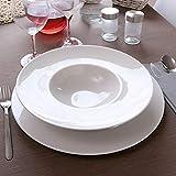Risotto Teller aus weißem Porzellan, Durchmesser 24 cm, Napoli x 6 cm