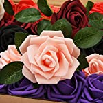 fake flowers bulk artificial flowers fake roses with stems for diy fake rose flowers for crafts wedding bouquet baby shower centerpieces arrangements party tables rose home decoration 25pcs (colorful)