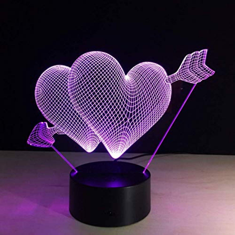 I will take action now Kreative 3D Stereo Nachtlicht Traum Nachttischlampe Bunte Multi-Farbe mit Blautooth Stereo Valentinstag Geburtstagsgeschenk