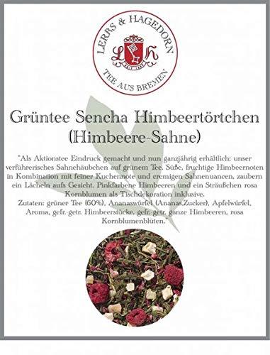 Grüntee Sencha Himbeertörtchen 1 kg - Himbeere-Sahne