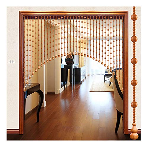 WENZHE Beaded Door Curtains for Doorways, Mahogany Soft Partition Smooth Without Burrs, Used for Bedroom Living Room Kitchen, Customizable Size (Color : A, Size : 100x80cm-25 strands)