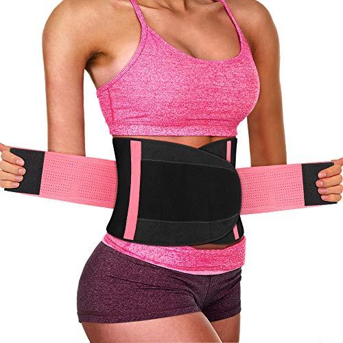 Nasharia - Bauchweggürtel für Fitnesstraining in Rosa, Größe 120 x 23cm