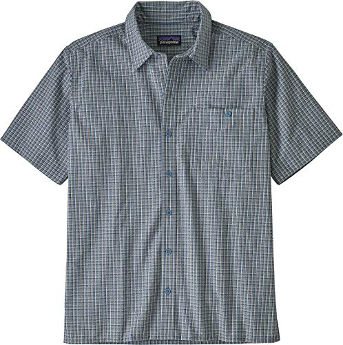 Patagonia M's Puckerware Shirt Haut Homme, Bleu (Pebble Plaid: Stone Blue), S