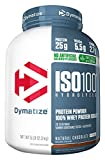 Dymatize ISO 100 Whey Protein Powder with 25g of Hydrolyzed 100% Whey Isolate, Gluten Free, Fast Digesting, Natural Chocolate, 5 Pound