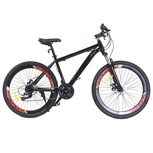 Bicicleta de 26 pulgadas para niño/niña, 21 marchas, transmisión original, bicicleta de montaña, color negro, bicicleta de ciudad para mujer/hombre, bicicleta de compras