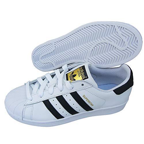 adidas Superstar C77124 Sneaker Sportschuhe Unisex Weiß-Schwarz Größe 40 2/3 EU