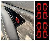 Custom Cut Graphics Tesla Model 3 Door Exit Decal Set (Red)