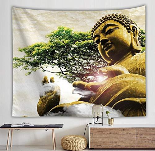 Tapiz de Buda, alfombra bohemia de pared, tela para Yoga, manta para dormir, tapiz de decoración del hogar, A3 150x200cm