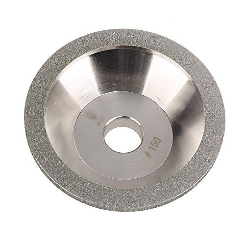 BQLZR 100mm Sch¨¹ssel Form Diamant Schleifscheibe Tasse Schneider 150 Grit Hartmetall Hart Stahl Silber