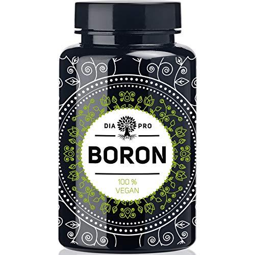 DiaPro® Boron Hochdosierte Boron-Tabletten mit 3 mg Bor pro Tablette aus Natriumborat 365 Stück Jahresvorrat 100{177e3d2535b769fd5fdb08f5df906ee2c2e2bd7143635fbbdfe293c44b7233b4} Vegan Laborgeprüft Hergestellt in Deutschland