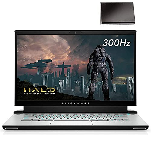"""Alienware m15 R3 RTX 2080 8GB 15.6"""" 300hz FHD Gaming Laptop Computer, Intel 8-Cores i7-10875H up to 5.1GHz, 32GB DDR4 RAM, 1TB PCIe SSD, WiFi 6, Cryo-Tech Cooling, Windows 10, BROAGE 320GB External HD"""