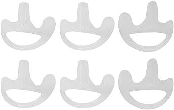 Gfhrisyty 3 paar transparante siliconen zachte oordopjes voor Walkie Talkie Covert akoestische buis oortelefoon klein/midd...