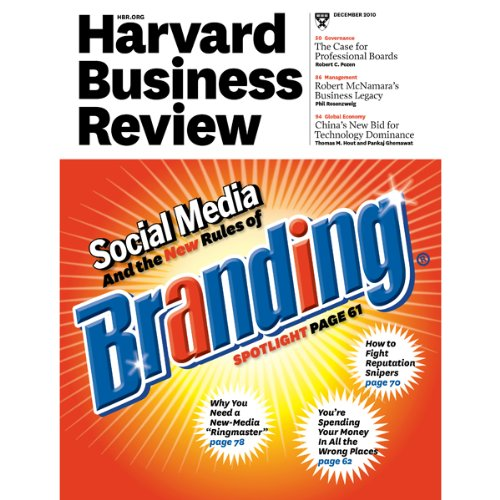 Harvard Business Review, December 2010 copertina