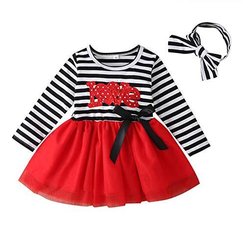 Vestido para Niña Bebé Recién Nacido Temático Vestido con Mangas Largas de...