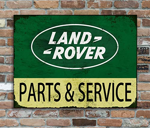Huzzy's Land Rover Replica Vintage Metal Wall Sign Retro Pub Bar Man Cave Garage Shed (28x20cm)
