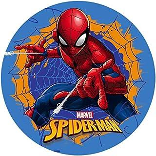 Dekora - Decoration Gateau Anniversaire Feuille Azyme de Spiderman - 20 cm Diametre