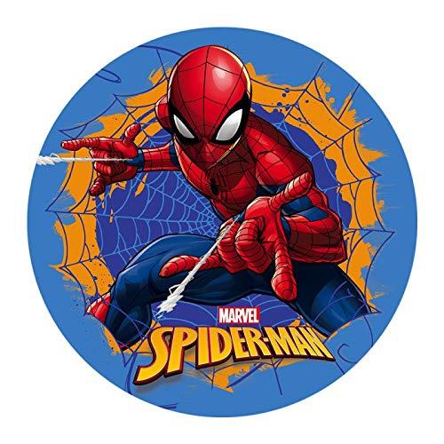 Dekora - Decoracion Tartas de Cumpleaños Infantiles en Disco de Oblea de Spiderman - 20 cm