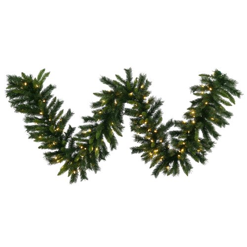 "Vickerman 9' x 16"" Imperial Pine Garland with 100 Warm White LED Lights"