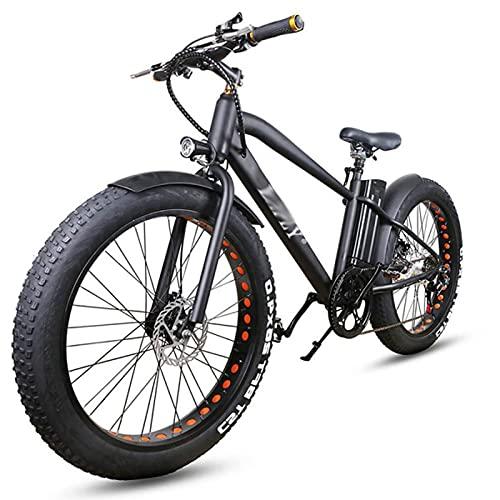WZW De los Hombres Bicicleta Electrica 1000W 4.0 Gordo Neumático montaña Bicicleta eléctrica 48V / 17Ah Litio Batería Eléctrico Bicicleta 6 Velocidad Ciudad Bicicleta eléctrica por Adultos