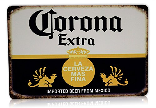 Corona Beer Man Cave Decor Extra Metal Sign La Cerveza Alcohol Home Party Bar Retro Vintage Signs Size: 8x12 Inches