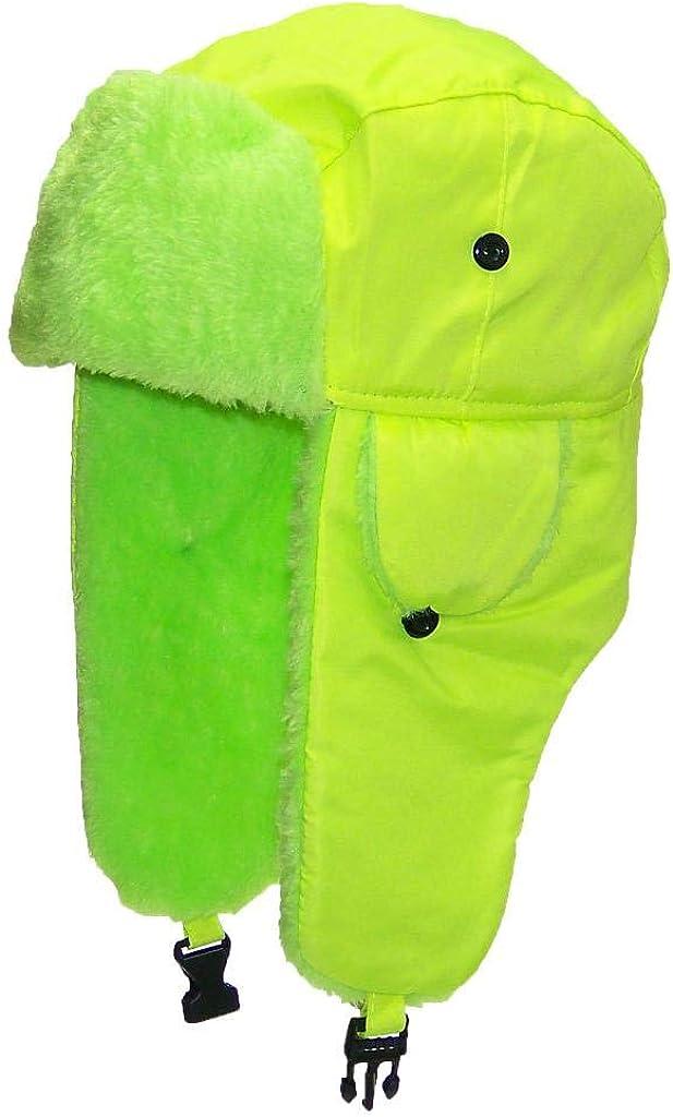 Best Winter Hats Big Kids Lightweight Neon Russian/Trooper Faux Fur Cap(One Size)