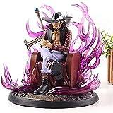 YIGEYI One Piece Dracule Mihawk Anime Action Figura 20cm Figuras de PVC Figuras Coleccionables Modelo de carácter Estatua Juguetes