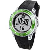 Digital Multifunction Sports Wrist Watch - Waterproof Smart Fit Classic Men Women Water Sport Swimming Fitness Gear Tracker w/ Chronograph, Countdown, Dual Time, Diving Mode - Pyle PSNKW30GN (Green)