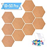 Whaline - Juego de 10 tableros de corcho hexagonales de...