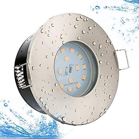 Linovum Feuchtraum Led Einbaustrahler 6w Flach Ip65 Mit Wasserschutz Fur Bad Dusche Oder Aussen Neutralweiss 4000k Amazon De Beleuchtung