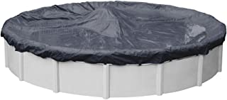 Pool Mate 3624-PM Classic Winter Round Above-Ground Pool Cover, 24-ft, Navy Blue